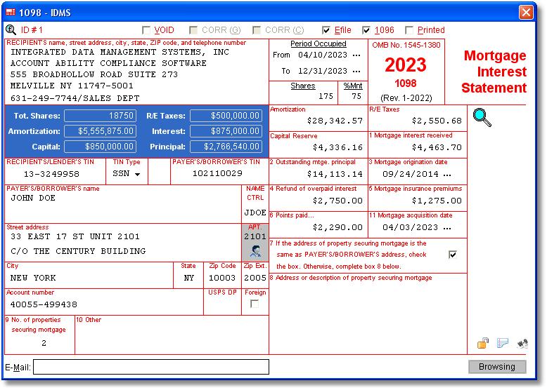 Irs Form 1098 Software Excel Arquivos Para Todos