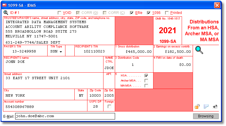 1099sa software to create, print & e-file form 1099-sa